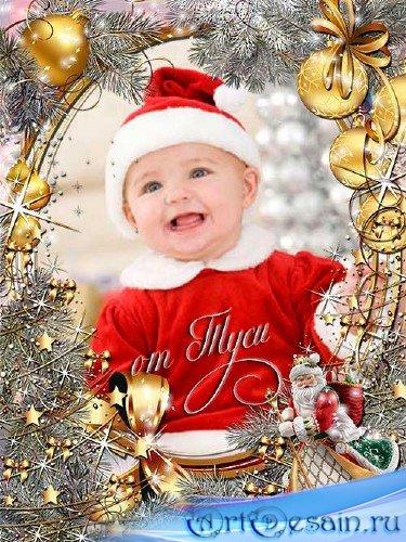 Новогодняя рамка для фото - Желаю новогодних вам чудес и чтобы все, как в с ...