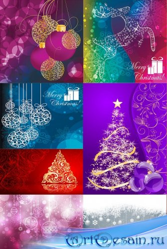 BACKGROUNDS MERRY CHRISTMAS-NEW YEAR