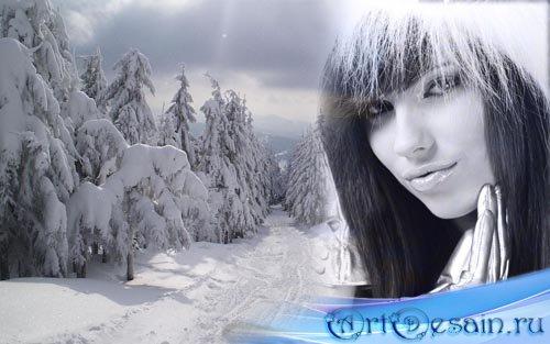 Рамка для фото - зимний лес