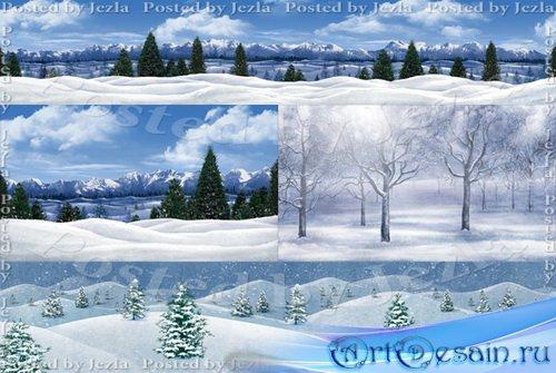 PSD Исходники - Зимний Пейзаж (Winter Landscape)