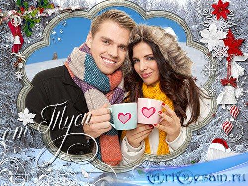 Новогодняя рамка для фото - Пусть и белым, и пушистым, будет этот Новый год