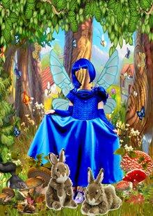 детский шаблон для фотошоп-Маленькая фея