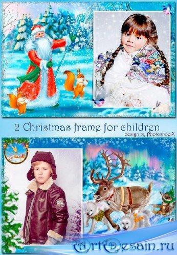 Очаровательные новогодние рамочки для всей семьи – За окошком снег идёт, зн ...