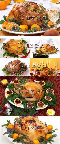 Запечённая ароматная индейка к рождеству - Stock photo