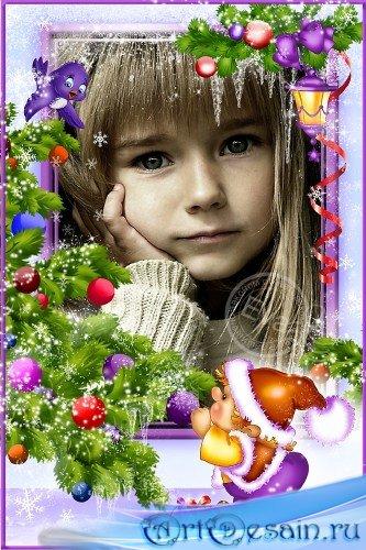 Детская рамка для фото - Наряжаю елку