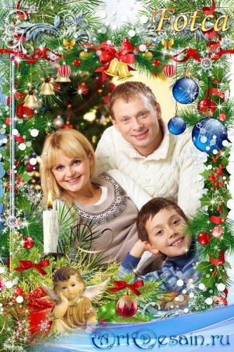 Новогодняя рамка для фото - Светлое Рождество