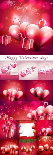 Valentine`s Day heart and ball - vector stock