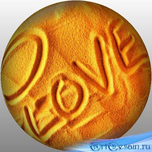 ФУТАЖ - Песочный вращающийся шар с надписью Love