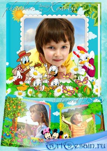 Детская фотокнига с героями мультфильмов Уолта Диснея - Летние приключения