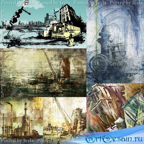 PSD Исходники - Город, Промышленность (Urban)