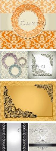 Винтажные фоны с орнаментами в векторе