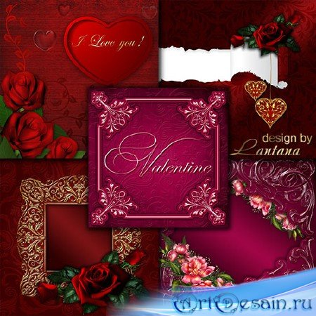Романтические исходники для дизайна - День святого Валентина