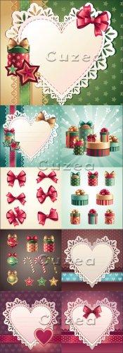 Оформления ко дню Валентина с коробками подарков и сердцами  | Hearts and g ...