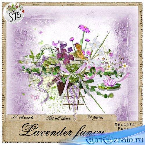 Симпатичный цветочный скрап-набор - Цветочная фантазия