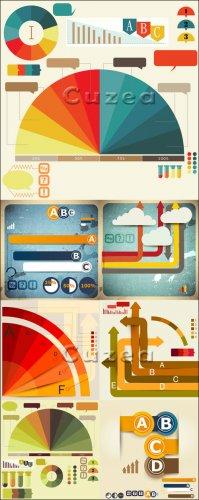 Набор инфографики - векторные элементы / Set of Infographic design vector e ...