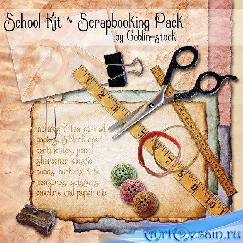 Детский школьный скрап-набор - Школьный скрапбукинг