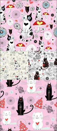 Рисованные животные к дню Валентина в векторе| The drawn animals by Valenti ...