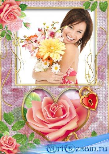 Фоторамка Роза в сердце