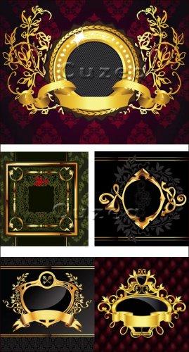 Винтажные золотые рамки в векторе/ Vintage gold framework in a vector