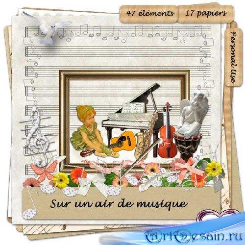 Музыкальный скрап-набор - В воздухе музыка витает