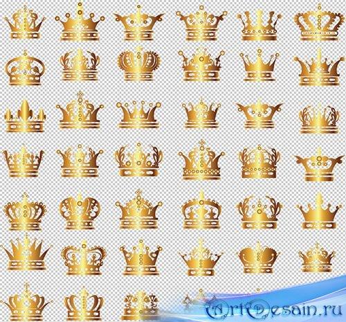 Клипарт - Золотые короны PSD прозрачный фон