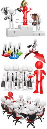 Бизнес люди 3d| Stock photo - business peoples 3 d