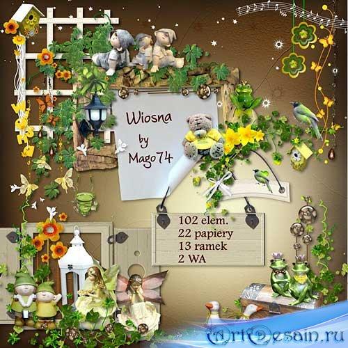 Цветочный весенний скрап-набор - Весна