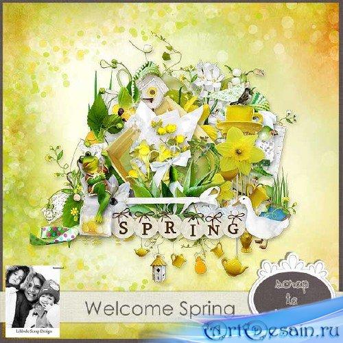 Яркий весенний скрап-набор - Добро пожаловать весна