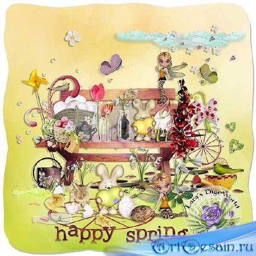 Яркий весенний скрап-набор - Счастливая весна