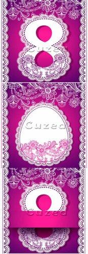 Красивые открытки к 8 марта в сиреневом тоне/  Delicate, purple background  ...