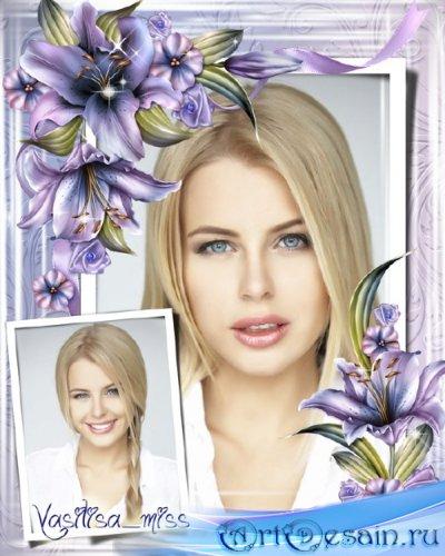 Цветочная рамка - Зимняя лилия