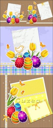 Vector stock - Фоны к светлому празднику Пасхи/  Happy Easter background