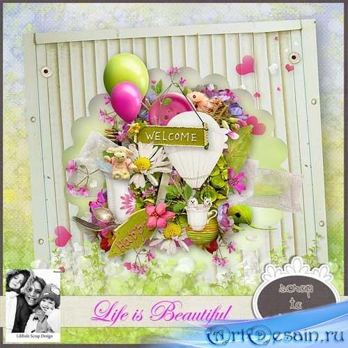 Очаровательный весенний скрап-набор - Жизнь прекрасна