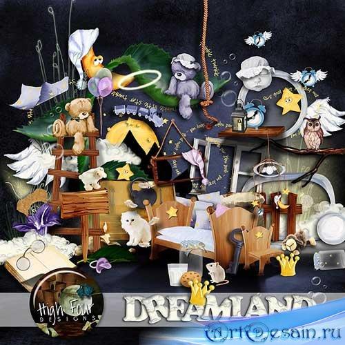 Красивый детский скрап-набор - Страна снов