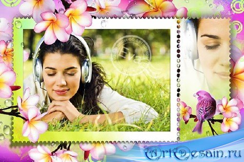 Рамка для фотошопа - Приход весны