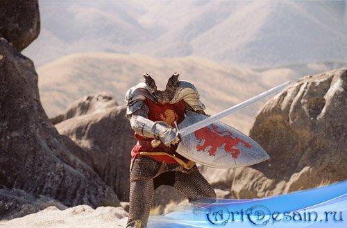 Шаблон мужской - отважный рыцарь