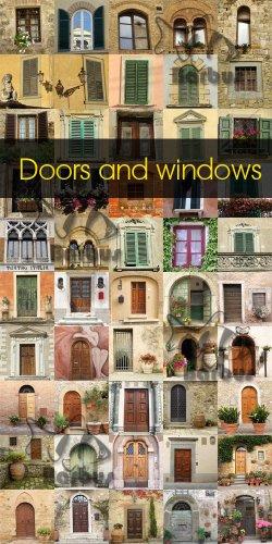 Doors and windows / Окна и двери - Photo stock