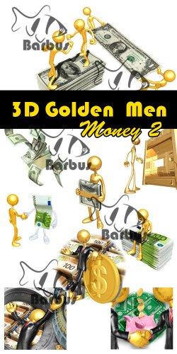 3D gold men  - Money 2 / Золотые человечки 3D - Деньги