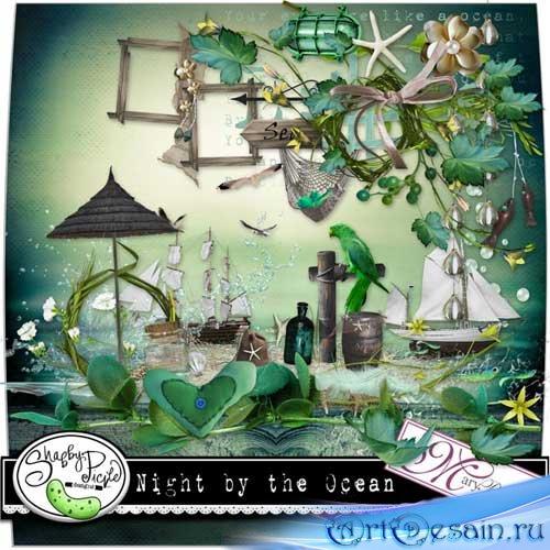 Морской скрап-набор - Ночной океан