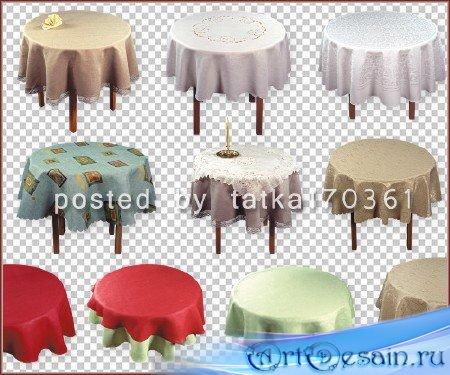 Клипарт для фотошопа - Столы круглой формы