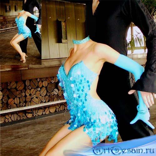 Женский шаблон - Танцовщица в красивом наряде