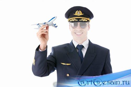Шаблон для фото - Самолет в руках