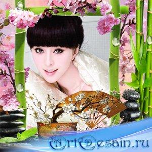 Рамка женская - Цветение сакуры