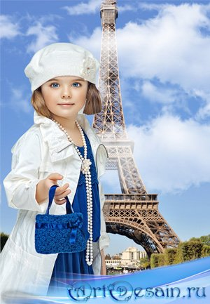 Шаблон  детский - Парижанка