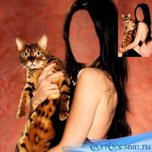 Шаблон для фотомонтажа - Ашера на руках