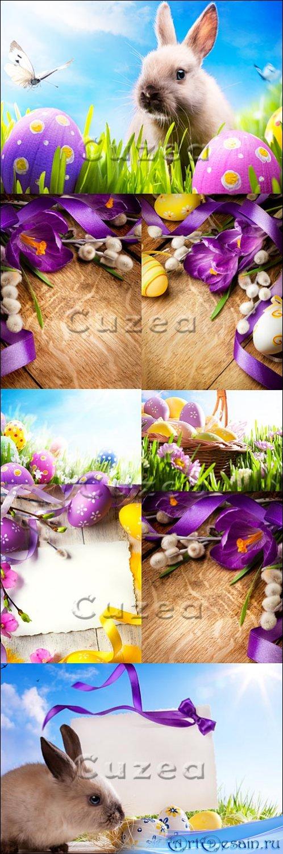 Stock photo - Винтажные пасхальные открытки с кроликом/ Vintage Easter Card ...