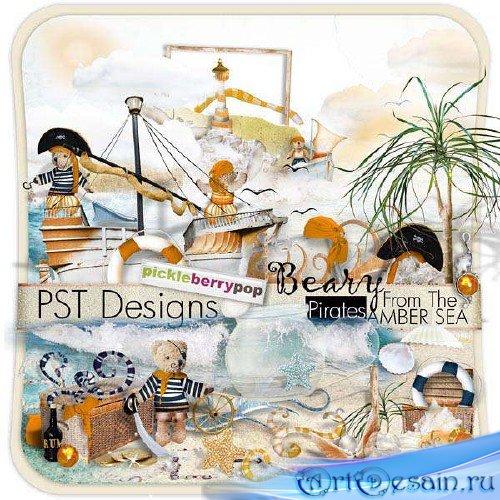 Морской скрап-комплект - Пираты с янтарного моря
