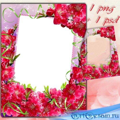 Цветочная фоторамка - Цветы Весны!