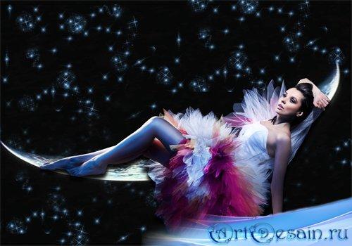 Шаблон женский - Звёздная ночь