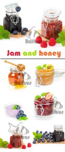 Jam and honey / Варенье и мед - Photo stock